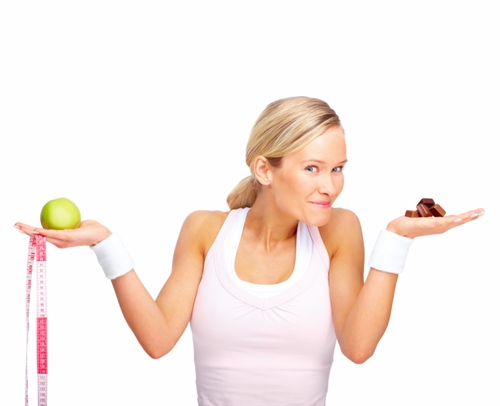 Woman deciding to eat healthy for her teeth